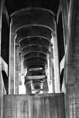 arches under the Ford Parkway Bridge (mhartford) Tags: minnesota stpaul mississippiriver twincities minoltasrt201 aristaedu fordparkway acufine