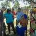 Health Extension Worker is showing Martin Landgraf, ECHO Brussels Deputy Head of the Unit B/3 and Jacob Asens, ECHO Ethiopia Field Expert/ Humanitarian Advisor, her work at the WFP-supported Targeted Supplementary Food Programme in Galato health post