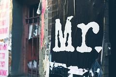 Mr. (TerryJohnston) Tags: nyc newyorkcity streetart newyork art word graffiti sticker dof bokeh tag urbanart font letter slap 6d urbanwall canon6d slapart canoneos6d