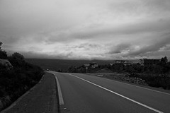 Road (clmenceLiu ) Tags: bw mountains nikon morocco atlas chefchaoun nikond800