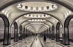 Mayakovskaya Station (Peter Schlyter Travel) Tags: travel russia moscow mayakovskaya peterschlyter