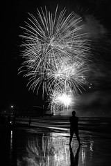 Fireworks in Senigallia (Canos82) Tags: blackwhite fireworks marche senigallia canon6d