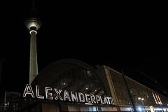 Alexanderplatz at Night (interrailing) Tags: berlin night germany alexanderplatz