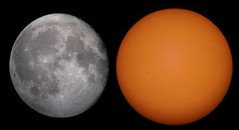 The Moon and The Sun seen at same day (Lucca Vanoni Ruggiero) Tags: sun moon astrophotography astronomy