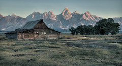 The Barn - 2013 (Jeff Clow) Tags: wyoming jacksonhole grandtetonnationalpark theoldwest ©jeffrclow thomasamoultonbarn jeffclowphototours