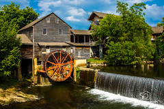 The Old Mill (Scott Prokop Photography) Tags: wood old building mill water wheel vintage river flow waterfall nationalpark unitedstates tennessee pigeon historic photoblog pigeonforge forge greatsmokymountain