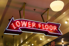 Lower Floor (rschnaible) Tags: seattle signs sign washington neon place pacific northwest market sightseeing tourist destination pike pnw