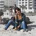 Elena on the beach. South Beach.