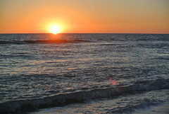 Paradise. (IAmProudToBeASwifty) Tags: sunset orange usa macro beach water yellow america nikon sunny american plus j1 2014