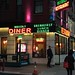 Waverly diner, 6 Av and Waverly Pl.