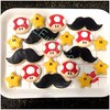 Mario Cookies (cREEative_Cookies) Tags: decorated sugar cookies creeative decorating food art birthday party theme custom desserts sweets super mario star mushroom mustache game video gamer classic