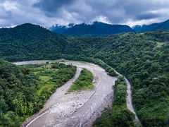 Rver and Mountain Landscape (tenacityinpursuit) Tags: jungle cochabamba creek drone road aerials water stream mountains green southamerica river bolivia aerial
