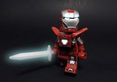 Silver Centurion (MrKjito) Tags: lego minifig super hero iron man 3 marvel cinematic universe comic book suit sword