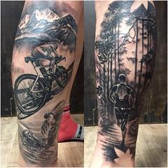 17492935_1159085957551761_3476152012718590201_o (mysticeyetattoo) Tags: triathlon tattoo running cycling swimming lleida spain realism yarda