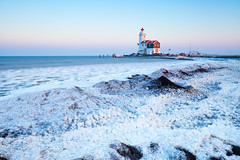 Lighthouse (Jheronimus) Tags: marken ijsselmeer snow ice water lake lighthouse winter island paardvanmarken landscape bigstopper lee leebigstopper ndfilter nd nederland thenetherlands holland sunset longexposure travel travelphotography explore explored