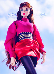 Lilith (Michaela Unbehau Photography) Tags: integrity toys lead singles lilith outfit jesus medina shuiimedina fashion royalty fr fr2 nuface red balmain couture michaela unbehau fashiondoll doll dolls toy photography sunshine summer hot pink mode puppe fotografie mannequin