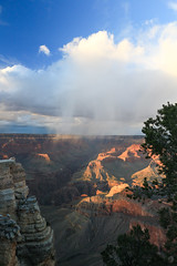 Grand Canyon Sunset 8 (Nick|Allen) Tags: grandcanyon grandcanyonnationalpark sunset rain storm clouds canyon sky arizona az south rim canon t4i polarizer lightroom landscape cloudy