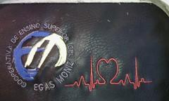 Faculdade de Medicina Dentária Egas Moniz (leonilde_bernardes) Tags: logos emblemas faculdade medicina dentaria lisboa bag sac embroidery moda handcraft