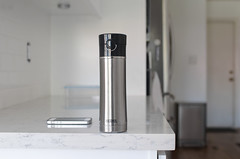 Stainless steel Thermos on kitchen counter (yourbestdigs) Tags: water bottle travel mug coffee thermos hot drink drinks beverage bottles mugs office leak stainless steel insulated warm liquid food lid lids kitchen dining table counter white clean tea hydration morning breakfast drinking exercising