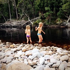 Young Smalls. Old River. Port Davey, Tasmania.
