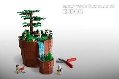 Grow your own Planet - Endor (IDSMO2017) (Kit Bricksto) Tags: lego ids moc endor flowerpot waterfall rebellion empire model star wars episode vi minifigures tree plants