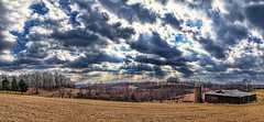 IMG_0249-53Ptz2TBbLGER (ultravivid imaging) Tags: ultravividimaging ultra vivid imaging ultravivid colorful canon canon5dmk2 clouds farm fields barn rural scenic vista stormclouds pennsylvania pa panoramic earlyspring spring trees