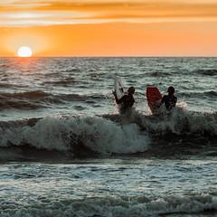 Sunset bodyboard (jan-willem wolf) Tags: janwillemwolf petten noordholland sea zee golven waves bodyboarding kust coast nederland netherlands holland
