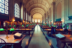 Boston Public Library (jazzyoki) Tags: library architecture books boston building city education heritage lamps light old public windows