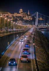 Traffic at night (Vagelis Pikoulas) Tags: budapest buda hungary travel photography road street cars lights bridge palace canon 6d tamron 70200mm vc traffic night nightscape city cityscape europe landscape view november autumn 2016
