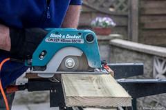 Day 103/365 Man at work (Eiona R.) Tags: astarterforten huw garden2017 woodwork auriculatheatre