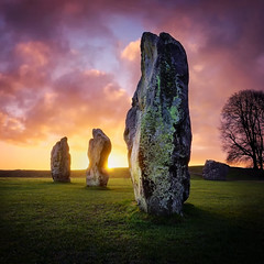 Dawn of the Ancients (Langstone Joe) Tags: avebury neolithic stonecircle prehistoric sunrise wiltshire henge standingstones worldheritagesite