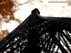 Vertigo (Ecinquantotto ( + 1.130.000 ...grazie !! )) Tags: architettura architecture art arte clouds d3000 dreams dream eiffel latoureiffel france francia geometrie geometric nikon nikond3000 nuvole ombre parigi paris vertigo