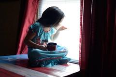Morning Joe (Rare Art) Tags: 50mm coffee lighting window nikon toddler iwokeuplikethis morning pjs