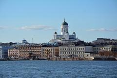Helsinki from Suomenlinna ferry (JohntheFinn) Tags: sea meri kauppatori architecture helsinki finland klaggy suomi eurooppa europe historia history