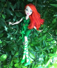 Poison Ivy (honeysuckle jasmine) Tags: red plants green mattel barbie toy doll ivy poison girls superhero comics dc