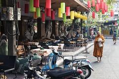 0497 Morning Walk (Hrvoje Simich - gaZZda) Tags: city street monk orange morning walk bangkok rambuttriroad thailand nikon nikond750 nikkor5014 gazzda hrvojesimich