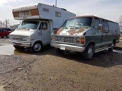 Dodge Maxivan and RV (dave_7) Tags: dodge maxivan rv junkyard scrapyard