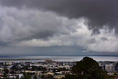 Is thunderstorm on the way? (miltonsun) Tags: thunderstorm sanfrancisco sfo seascape bay ngc bayarea wave ocean shore california westcoast architecture landscape clouds sky seaside coast outdoor trees