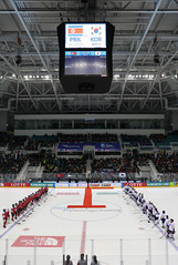 Ice_Hockey_World_Champ_Korea_NorthKorea_01 (KOREA.NET - Official page of the Republic of Korea) Tags: icehockey gangneungsi korea northkorea 남북전 아이스하키 강릉하키센터 한국 북한 2018평창동계올림픽 평창동계올림픽