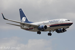 N908AM Boeing 737-700 Aeromexico Miami aiport KMIA 20.03-17 (rjonsen) Tags: plane airplane aircraft bare metal flying flight skyteam spproach arrival