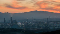 Twilight (Oliver J Davis Photography (ollygringo)) Tags: cepsa refineria algeciras cadiz refinery guadarranque sanroque gibraltar oil petroleum spain pollution environment nature dusk sky clouds air quality chimneys burn waste fire lights night illuminated nikon d90 twilight contrast modern world skyline urban technology planet earth environmental future global warming climate change iberian peninsula largest andalucia andalusia smoking smoke pollutants health 2017 warm travel