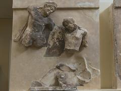 """Delphi, The Athenians' Treasury Metopes – Theseus Cycle, 4 (egisto.sani) Tags: delfi museo metopes metope theseus teseo amazonomachy amazzonomachia antiope """"archaic period"""" arcaico periodo art arte arcaica period treasury tesoro """"athenians treasury"""" """"tesoro degli ateniesi"""" phocis focide delphi """"archaeological museum"""" """"museo archeologico"""""""