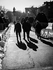 Boston common (Rabican7) Tags: black white photos blackwhitephotos boston bostoncommon people shadows sunnyday