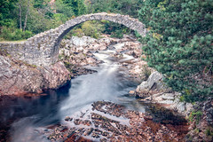 Beyond the realms of mortal men (OR_U) Tags: 2017 oru uk scotland carrbridge cairngorms bridge derelict ruin water le longexposure river stream movement motion heritage