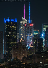 Times Square (20170324-DSC09503) (Michael.Lee.Pics.NYC) Tags: newyork aerial hotelview ink48 hellskitchen timessquare night architecture longexposure bankofamericatower 4timessquare paramountbuilding sony a7rm2 fe70300mmg