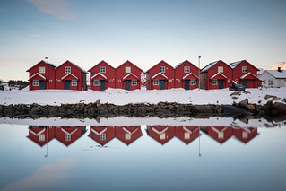 Reflecting cottages, Norway