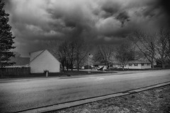 Rain Filled Skies (kendoman26) Tags: hdr nikhdrefexpro2 niksoftware niksilverefexpro2 nikon nikond7100 blackandwhite monochrome tokinaatx1228prodx tokina tokina1228 rain clouds sky