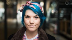 Cassie - [Stranger 219] (iain blake) Tags: 100strangers strangers streetphotography people portrait portraiture london uk spitalfields bricklane beauty beautiful eyes face smile