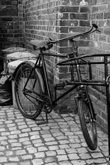 bike against the wall (williams.stuart72) Tags: blackcountrymuseum blackandwhite monochrome bike bricks nikond3300 sigma1750 40mm