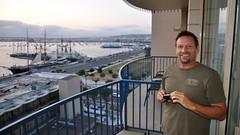 Welcome to San Diego, Charley! (Blue Rave) Tags: 2017 ca california sandiego bloke dude guy male mate people patio takingaphoto photographer bay water sandiegobay goatee
